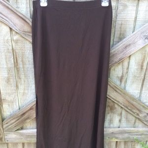 DKNY Brown Long Skirt